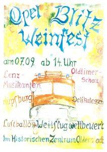 Plakat Opel Blitz Weinfest